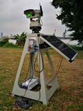1W Automated Solar Powered Laser Bird Repellent with HD Camera APP Control